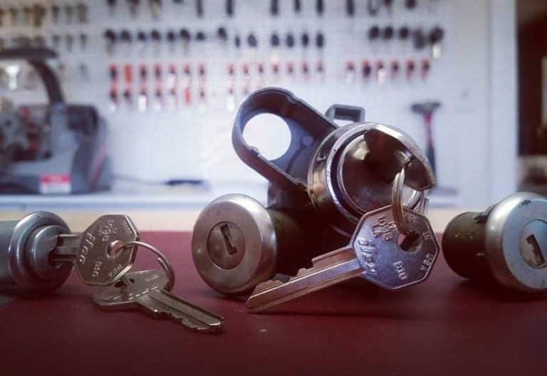 image of a 57 Chevy ignition lock cylinder