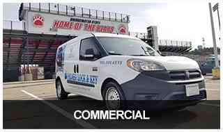 image of the Palmer locksmith van at the Bridgewater State Athletics Stadium